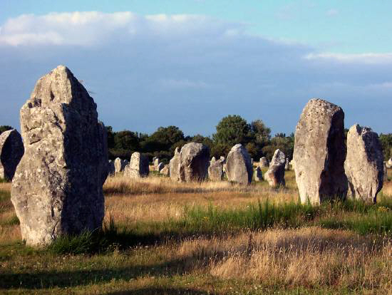 menhirs location carnac