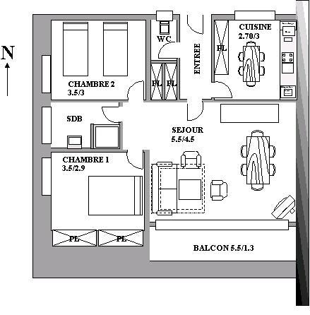 Description location vacances carnac plage en bord de mer - Plan appartement 120 m2 ...